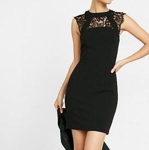 Express NWT size 6 Black Dress with Lace Beautiful